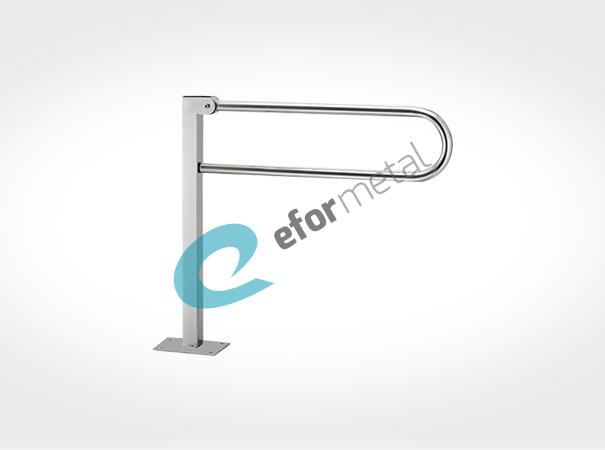 Floor Mounded Grab Bar Hinged