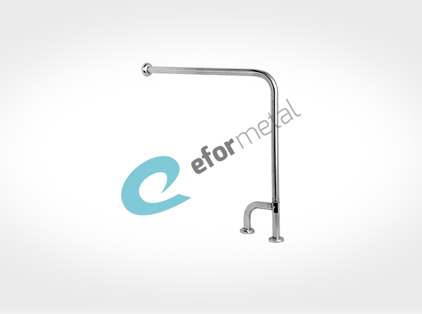 Wall To Floor Grab Bar With Sliding Outtrigger